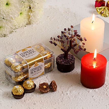 Amethyst Wish Tree With Ferrero Rocher Candles