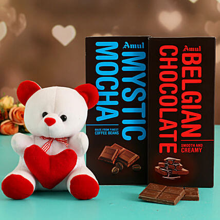 Online Mocha Chocolates With Jewellery Set