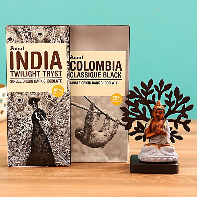 Send  Chocolates and Buddha Idol