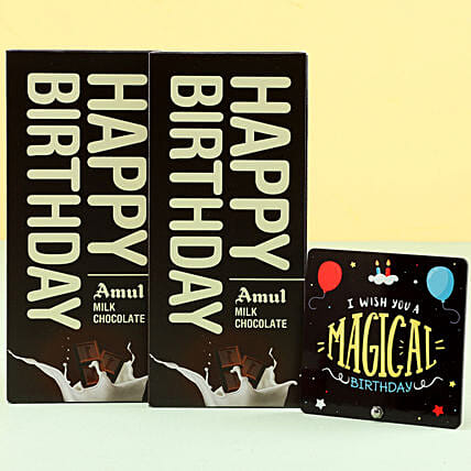 Online Amul Milk Chocolates For Birthday