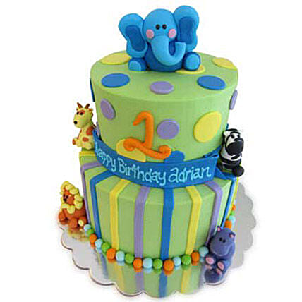 Animal Baby Shower Cake 4kg by FNP