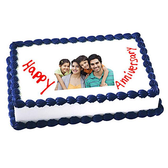 Anniversary Photo Cake 1kg Vanilla Eggless