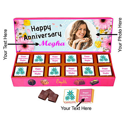 Buy Anniversary Special Personalised Chocolate