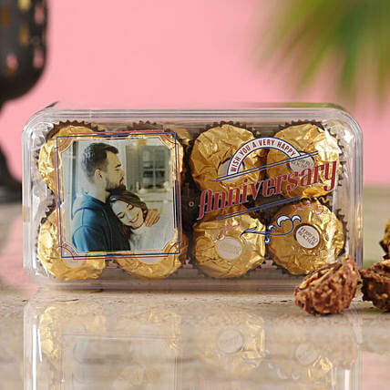 Anniversary Special Personalised Ferrero Rocher Box:Personalised Chocolates Kolkata