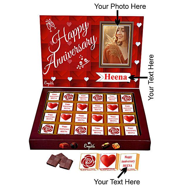 Anniversary Personalised Chocolate Online