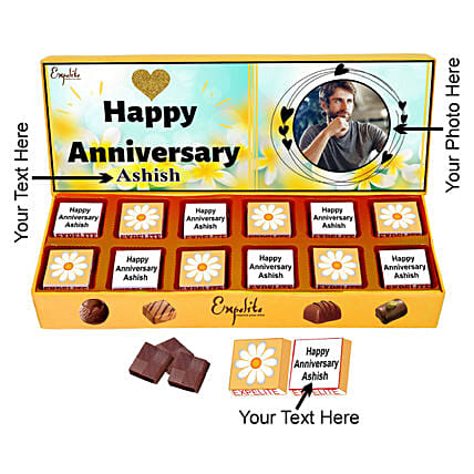 Online Anniversary Special Personalised Chocolate