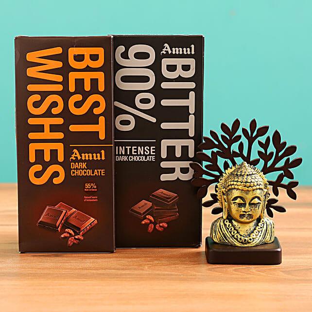 Online  Buddha Idol and  Chocolate