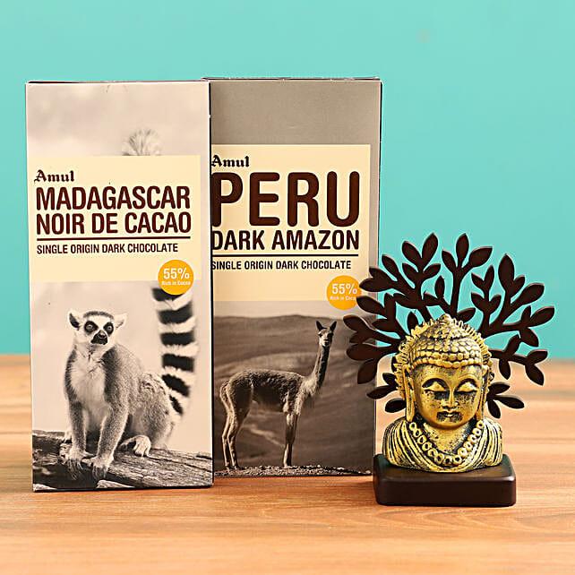 Buy Buddha Idol and  Chocolates