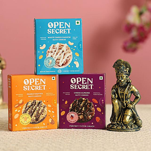Antique Hanuman Idol & Cookies Combo