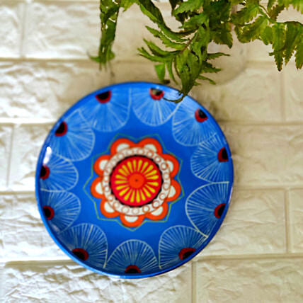 Aqua Sunrise Wall Plate