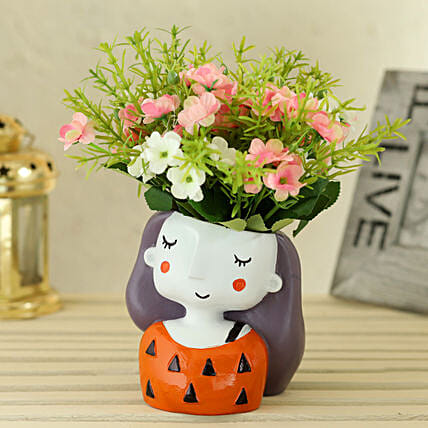 Artificial Flowers in Cute Pot