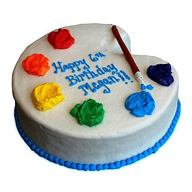 Artist Birthday Cake 4kg Eggless Vanilla