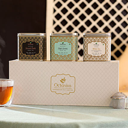 Tea Leaf with Colourful Tea Box