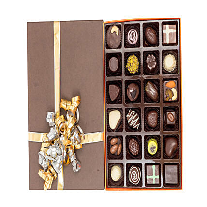 Box of 24 Delicious Chocolates:Send Handmade Chocolates