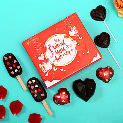 Assorted Chocolates For Love:Happy Anniversary Chocolate