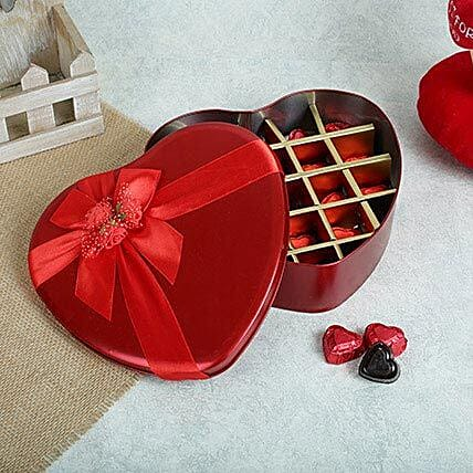 Assorted Chocolates Red Heart Box