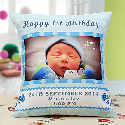 Sunshine of Life Personalized Cushion:1st Birthday Gifts