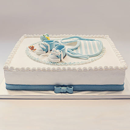 OnlineBaby Boy Chocolate Cake:Baby Shower Cakes