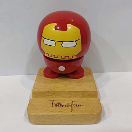 Baby Superhero Bobble Phone Stand Iron Man:Mobile Accessories