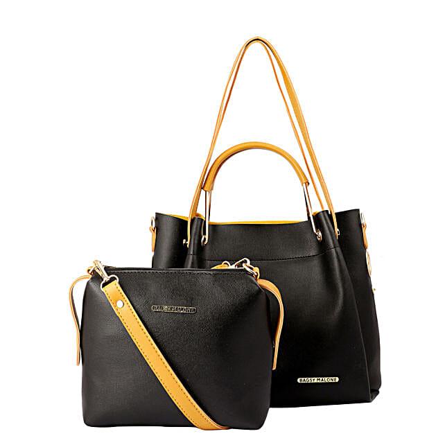 Bagsy Malone Black Tote Bag Combo