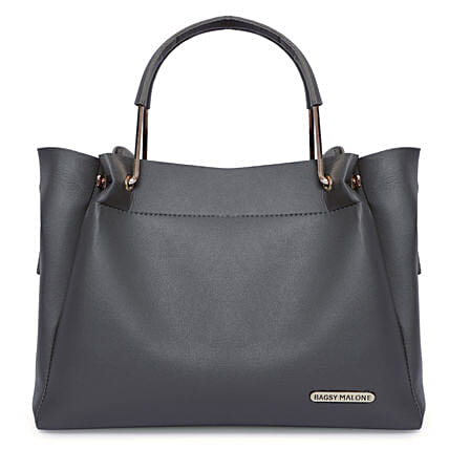 Bagsy Malone Grey Stylish Tote Handbag