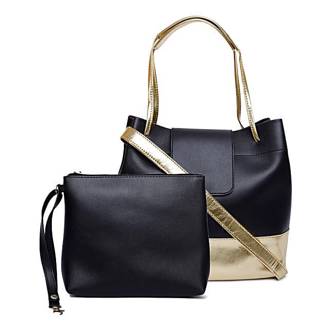 Bagsy Malone Magnet Flap Tote Bag- Black
