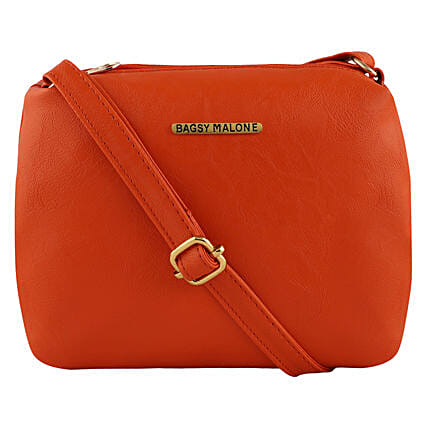 Bagsy Malone Sleek Orange Sling