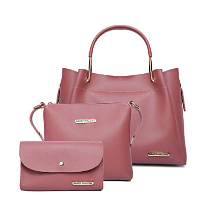Bagsy Malone Tote Combo Bags- Soft Pink