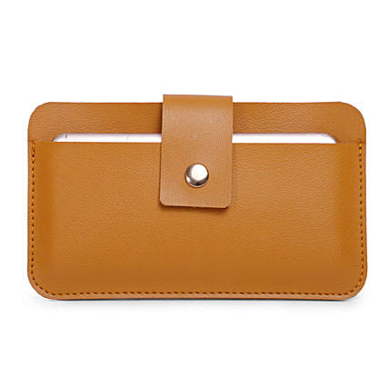 Bagsy Malone Unisex Mobile Pouch- Walnut Brown