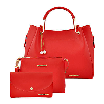 Bagsy Malone Women's Tote Combo Bag- Red:Tote Bags Gifts