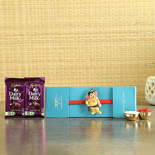 Bal Ganesha Rakhi & Chocolates- Hand Delivery