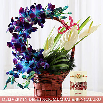 Flower Arrangement and Rakhi Online