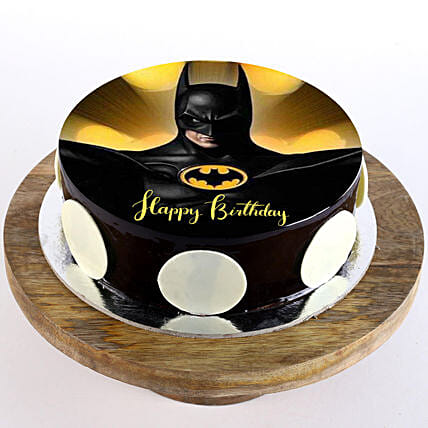 superhero photo cake for kid