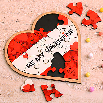 valentine heart shaped puzzle:Personalised Toy-n-games