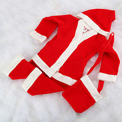 Santa claus baby dress.:Send Gifts to Mahe