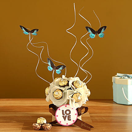 Beautiful Butterfly Rocher Arrangement:Mothers Day Chocolates