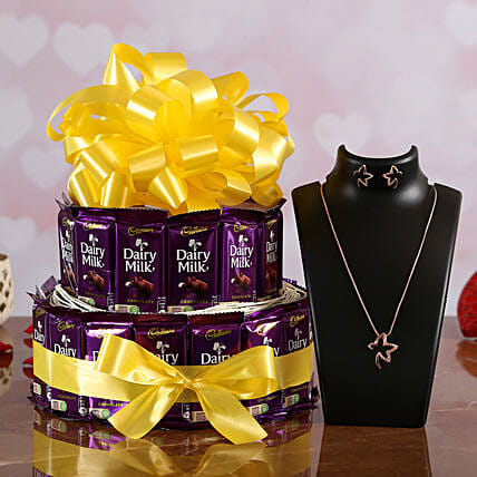 Cadbury Chocolate Bouquet with Jewelry