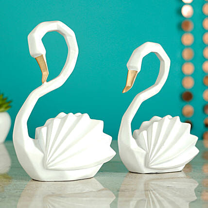 Beautiful Duck Pair Showpiece:Gifts for Dhanteras
