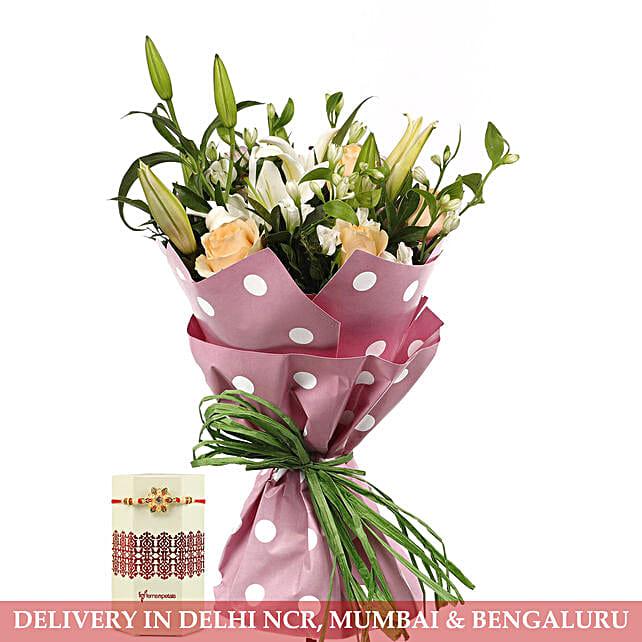 Online Flower and Rakhi Combo