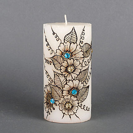 Flower design candle
