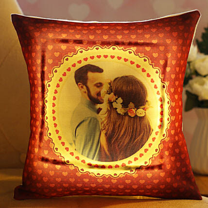Beautiful In Love Personalised LED Cushion Hand Delivery:Personalised Cushions for Wedding