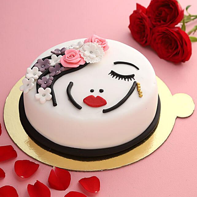 Beautiful Lady Truffle Cake