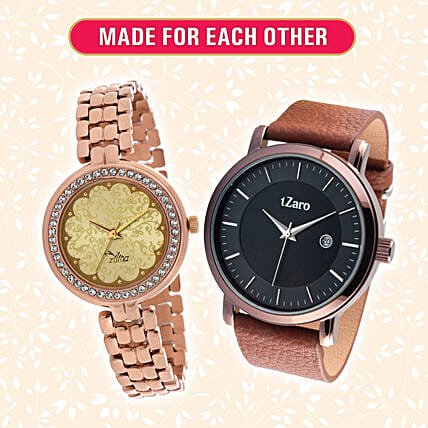 Beautiful Made for Each Other Watch Combo