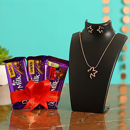 Valentines Special Chocolates & TableTop for Love:Send Valentines Day Jewellery