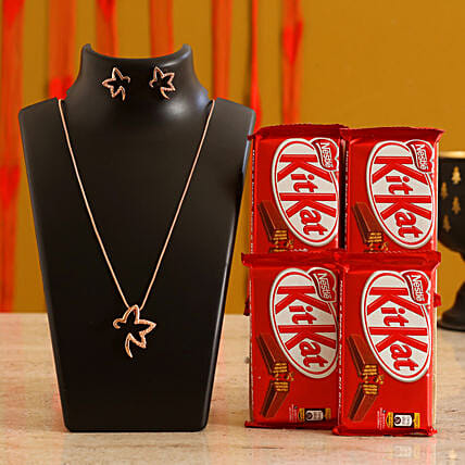 Jewelry and Chocolate Valentine Combo