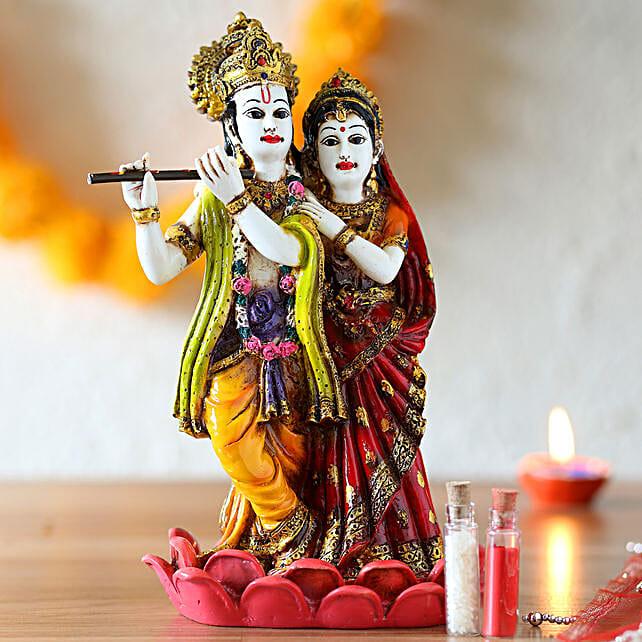 Auspiciuos radha krishana idol online:Janmashtami Gifts