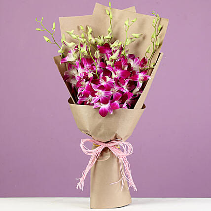 online orchids bunch bouquet