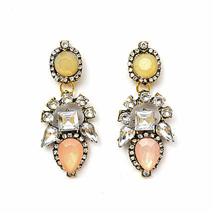 Artificial Stone Earrings For Her