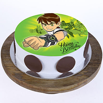 Online cartoon character cake for boys