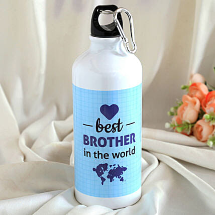 Best Brother In The World Printed Bottle